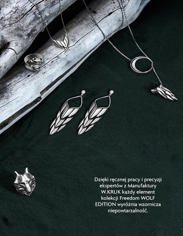 Biżuteria Srebrna Freedom Wolf - Martyna Wojciechowska