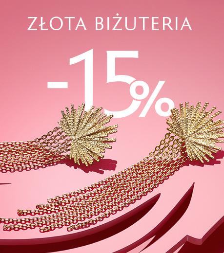 Złota biżuteria -15%