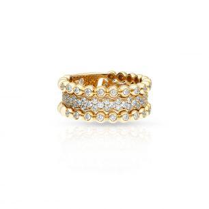Pierścionek różowe złoto Casato ZTT/PB+151R