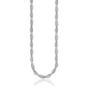 Naszyjnik srebrny podwójny splot SSX/NS241