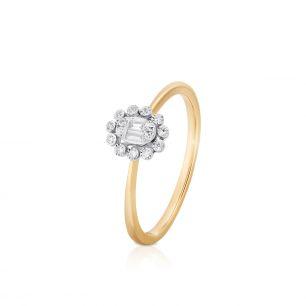 Pierścionek złoty bicolor z diamentami ZPA/PB+459K