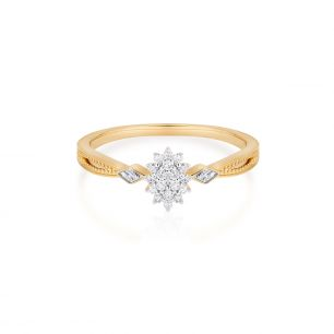 Pierścionek złoty bicolor z diamentami ZPA/PB+458K