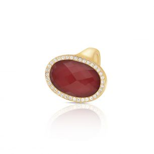 Pierścionek różowe złoto Meissen ZSS/PB+47R