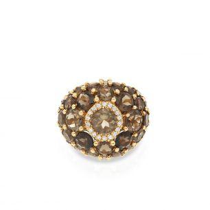Pierścionek złoty ENRICO CAPRA ZCR/PB+45R