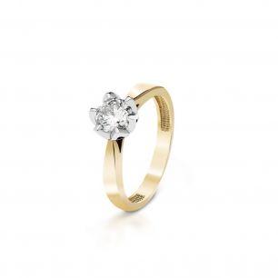 Pierścionek zaręczynowy złoty Romantyczny ZNN/PB+45BK