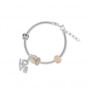Bransoleta srebrna do zawieszek lovely beads SCR/AS165