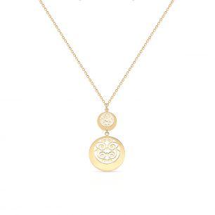 Naszyjnik złoty arabeska ZTO/NZ174