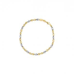 Bransoleta złota bicolor ZIT/AZ60BK