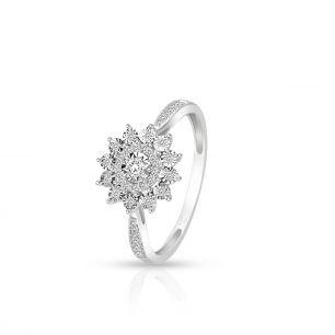 Pierścionek białe złoto z brylantami i diamentami ZCG/P+1062B