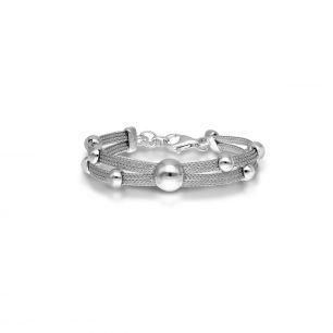 Bransoleta srebrna z kulkami SCR/AS155 /20