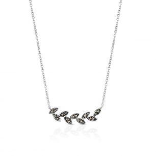 Naszyjnik srebrny z markasytami SJT/NS054