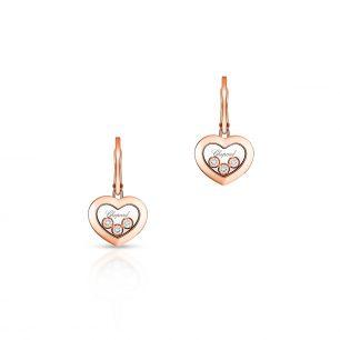 Kolczyki różowe złoto HAPPY HEARTS Chopard ZPD/KB+77R