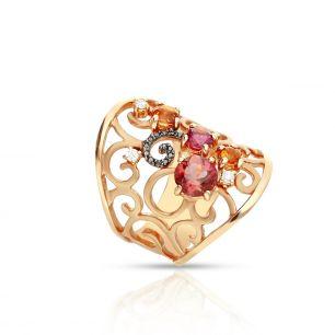 Pierścionek różowe złoto ENRICO CAPRA ZCR/PB+88R