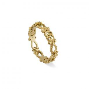 Pierścionek złoty Gucci ZUC/PB+55