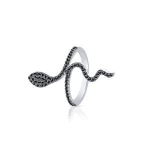 Pierścionek srebrny z motywem węża SLB/PC119