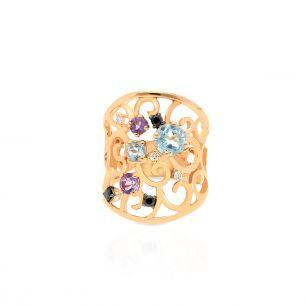 Pierścionek różowe złoto ENRICO CAPRA ZCR/PB+84R