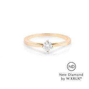 Pierścionek zaręczynowy złoty Doskonały XWK/PB-02