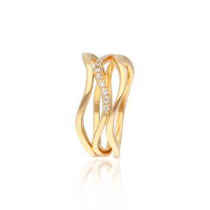 Pierścionek różowe złoto ENRICO CAPRA ZCR/PB+74R