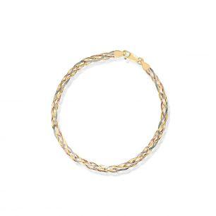 Bransoleta złota tricolor ZVI/AZ07BK