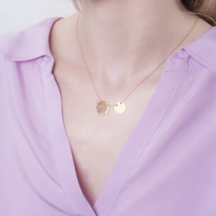 Naszyjnik srebrny z ażurowym kwiatem SMN/NS011Z