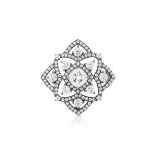 Broszka srebrna z cyrkoniami SDL/BC086