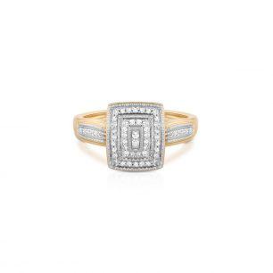 Pierścionek z diamentami ZCG/P+1000K