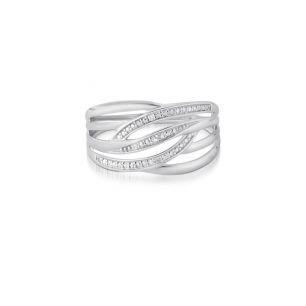 Pierścionek białe złoto z diamentami ZCG/PB+986B