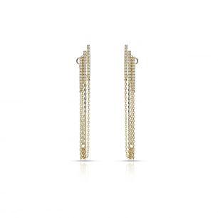 Kolczyki złote z cyrkoniami ZIH/KC109