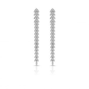 Kolczyki białe złoto z brylantami ZFT/KB+136B