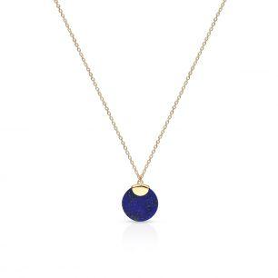 Naszyjnik złoty z lapis lazuli ZTO/NW23