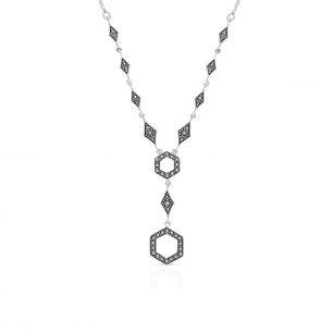 Naszyjnik srebrny z markasytami SVL/NS016
