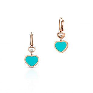 Kolczyki różowe złoto HAPPY HEARTS Chopard ZPD/KB+16R