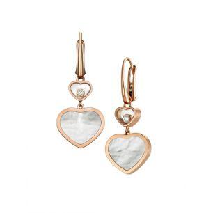 Kolczyki różowe złoto HAPPY HEARTS Chopard ZPD/KB+10R