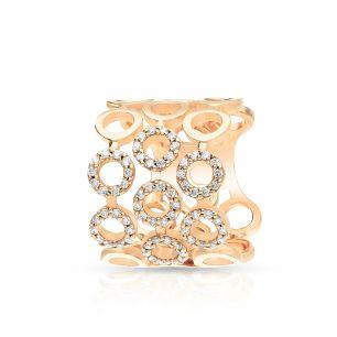 Pierścionek różowe złoto ENRICO CAPRA ZCR/PB+116R