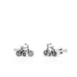 Spinki do koszuli srebrne rowery WWK/MS1467