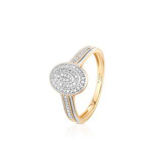 Pierścionek złoty z diamentami ZCG/PB+998K