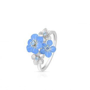 Pierścionek srebrny Kwiaty Nocy SDL/PC176