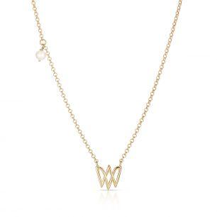 Naszyjnik srebrny z perłą W.KRUK WWK/NP1529Z