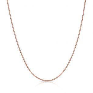 Łańcuszek srebrny pozłacany żmijka SCR/LS044R