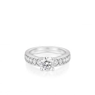 Pierścionek zaręczynowy złoty Szczęśliwy ZCG/PB+639B