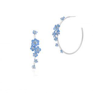 Kolczyki srebrne Kwiaty Nocy SDL/KC178