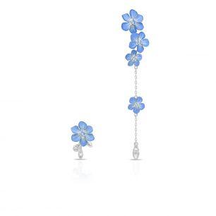 Kolczyki srebrne Kwiaty Nocy SDL/KC174