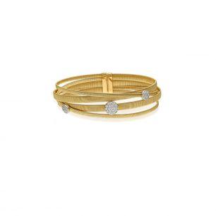 Bransoleta złota bicolor Enrico Capra ZCR/AB+99BK
