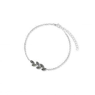 Bransoletka srebrna z markasytami SJT/AS054