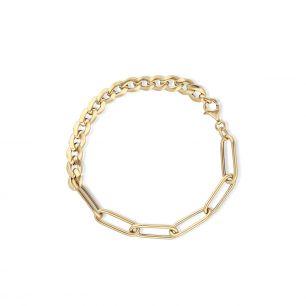 Bransoleta złota paper clip ZIT/AZ57