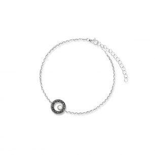 Bransoletka srebrna z markasytami i cyrkonią SJT/AS055