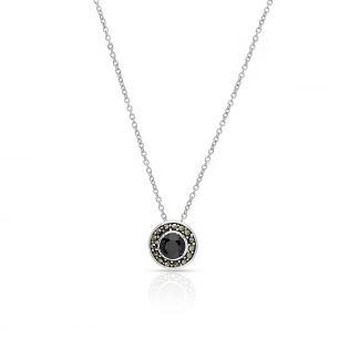 Wisiorek srebrny z markasytami i cyrkonią SIS/WS021