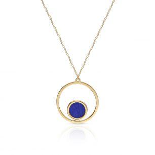 Naszyjnik złoty z lapis lazuli ZTO/NW24