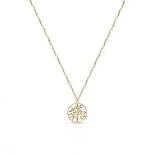 Naszyjnik złoty z motywem drzewa ZTO/NZ210
