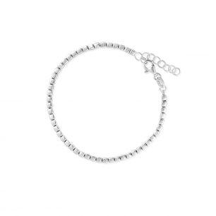 Bransoleta srebrna kostka SSX/AS262